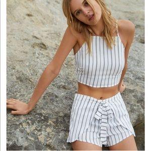 PacSun Lottie Moss Stripe Halter Top & Shorts Set